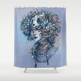 Night Cat Witch Shower Curtain
