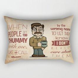 Ron Swanson 6 Rectangular Pillow