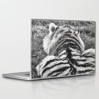 hobbes Laptop & iPad Skins featuring Hobbes.  by calvin./CHANCE