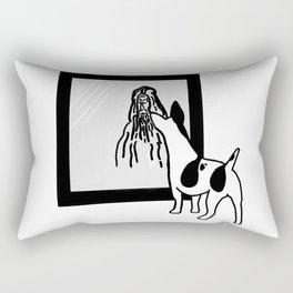 Dog Is God Backwards Rectangular Pillow