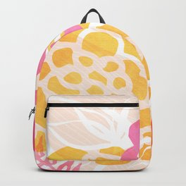 Summer Floral / Pink and Gold Backpack