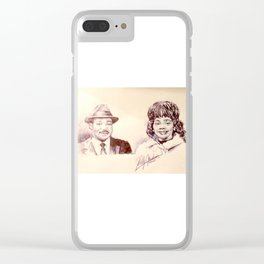 Martin Luther King & Coretta Scott King Clear iPhone Case