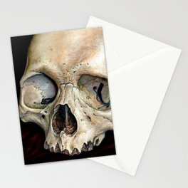 moldy tan skull Stationery Cards