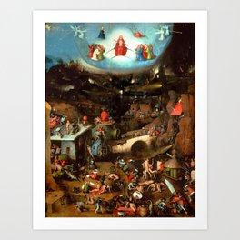 """Hieronymus Bosch """"The Last Judgement"""" triptych (Vienna) central panel Art Print"""