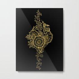 Sea shell - Gold Metal Print
