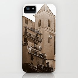 High Noon Riomaggiori Sepia iPhone Case