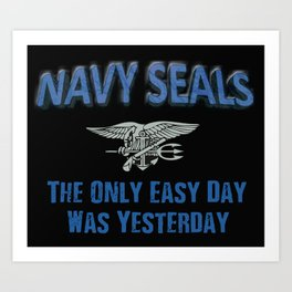 Navy Seals Art Print