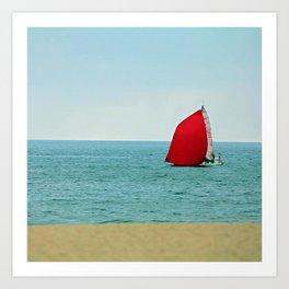 The Red Sail Art Print