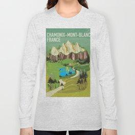 Chamonix-Mont-Blanc,France travel poster. Long Sleeve T-shirt