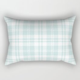 Cozy Plaid in Mint Rectangular Pillow