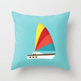 Sailboat II Throw Pillow