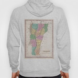 Vintage Map of Vermont (1827) Hoody