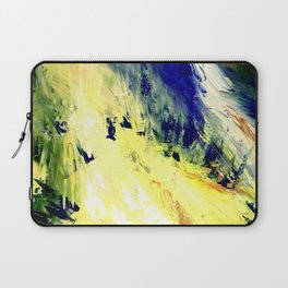 Abstract Yellow Dancer by Robert S. Lee Laptop Sleeve