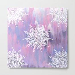 Pastel Abstract Mandala Metal Print