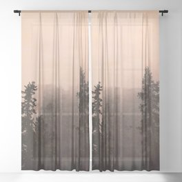 Deep in Thought - Forest Nature Photography Sheer Curtain