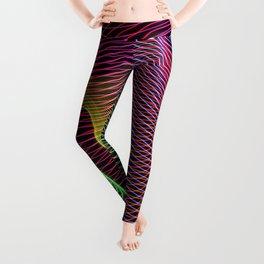 wavy rainbow light painting Leggings