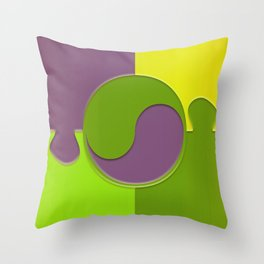 puzzle yin yang Throw Pillow