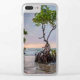 Mangrove Trees On The Beach At Sunset Clear iPhone Case