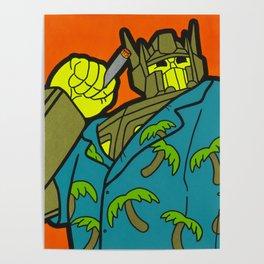 Opti-Maui Prime - tiki pop art Poster