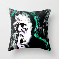 chuck Throw Pillows featuring Chuck Darwin. by Fitz Royal