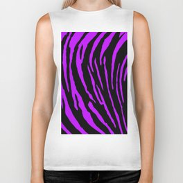 Purple Tiger Stripes Biker Tank