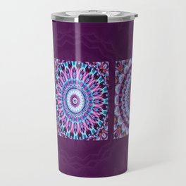 Mandala Collage violett Travel Mug