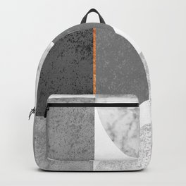 Marble Gray Copper Black and white circles Backpack