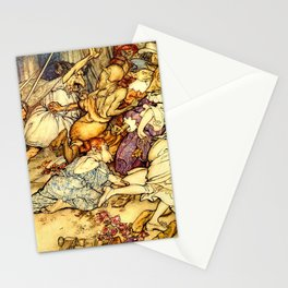Attack of monsters Stationery Cards