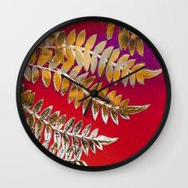 Crimson Daydream Wall Clock