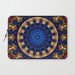 Royal Blue Gold Mandala Design Laptop Sleeve