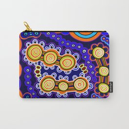 Authentic Aboriginal Art - Yugarabul Gathering Carry-All Pouch