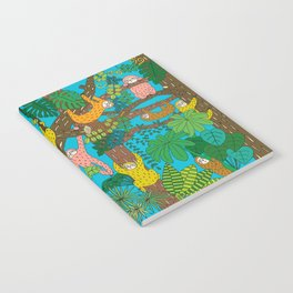 Happy Sloths Jungle Notebook