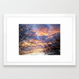Purple Sky Sunrise Framed Art Print
