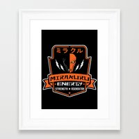 deathstroke Framed Art Prints featuring Supervillain's energy drink by Buby87