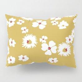 Modern liberty print on mustard ground Pillow Sham