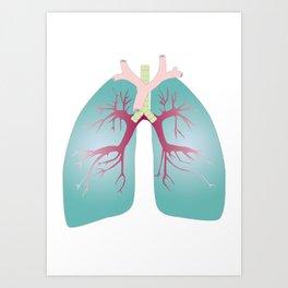 Lung Art Print