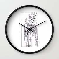 christian schloe Wall Clocks featuring Christian service by Shelby Claire