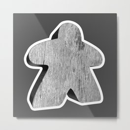Giant White Meeple Metal Print