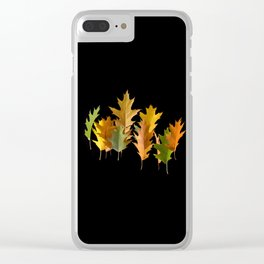Variety coloured autumn oak leaves Clear iPhone Case