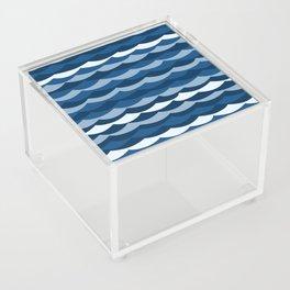 Classic Blue Wave Pattern Acrylic Box