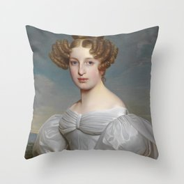 Portrait of Elise Dorothea Friederike by Ernst Thelott Throw Pillow