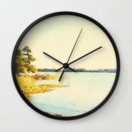 Wolfe's Neck State Park, Maine Wall Clock