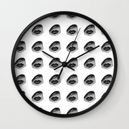 Lip Pattern Wall Clock