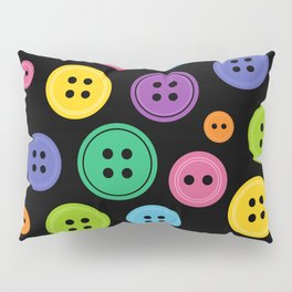Colorful Rainbow Buttons Pillow Sham