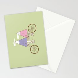 mountain biking Stationery Cards