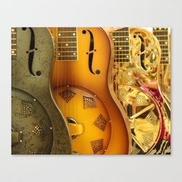 Guitar Trio Canvas Print
