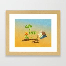 Cup á life Framed Art Print
