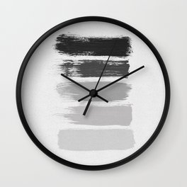 Black & White Stripes Wall Clock