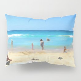 Day At The Beach Looking At The Water Pillow Sham