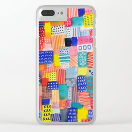 Venice Beach Rainbow Abstract Cityscape Clear iPhone Case